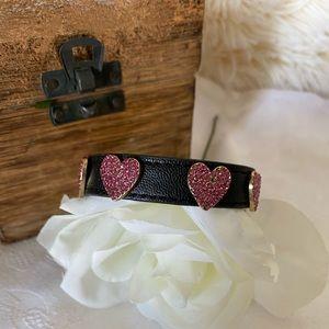 Betsy Johson Cristal heart ❤️ Bracelet